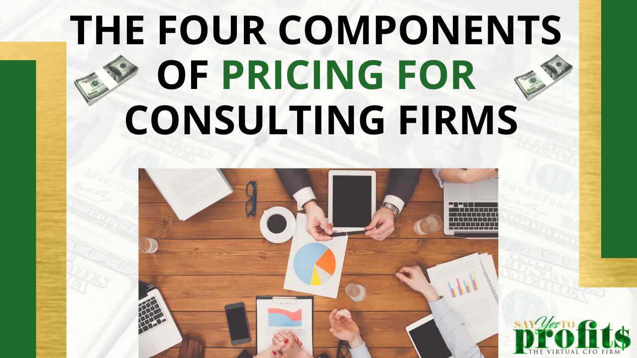 The Four Components Of Pricing for Consulting Firms